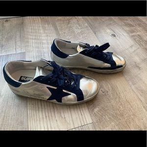 Golden Goose Superstar Metallic Sneakers Size 36